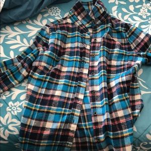 Plaid soulcycle long sleeve